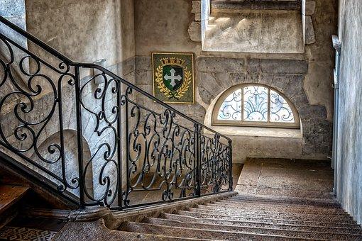 Stairs, Railing, Staircase, Stone Stairway
