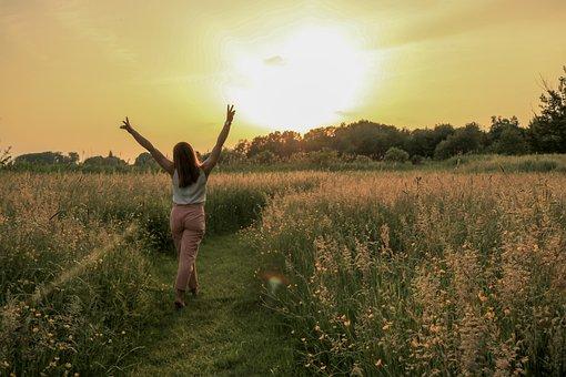 Woman, Field, Sun, Girl, Summer, Nature, Sunshine