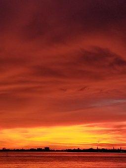 Sunset, Sarasota Bay, Gulf Of Mexico