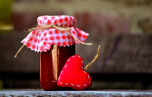 Jam, Heart, Sweet, Eat, Delicious, Vitamins, Fruits