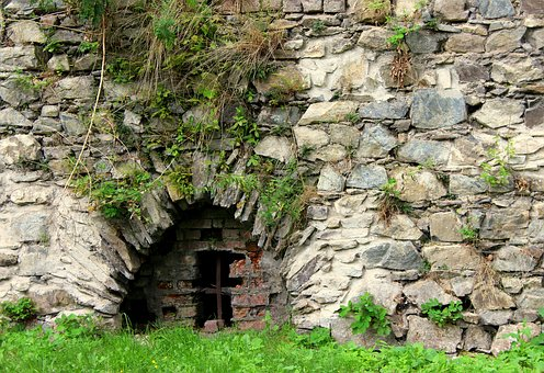 Window, Grating, The Walls, Castle, Stone, Stone Wall