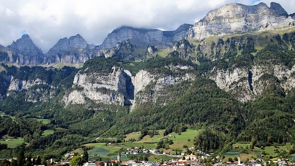 Mountains, Landscape, Alpine, Tops, Scenery
