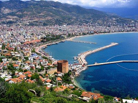 Alanya, Port, Turkey, Fortress, Castle, Coast, Boat
