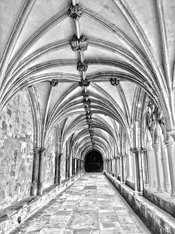 Vault, Gang, Architecture, Building, Old, Cloister