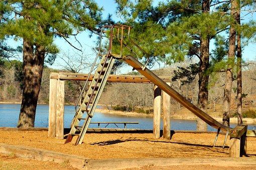 Vintage Texas Playground, Playground, Slide