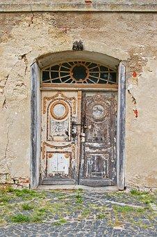 Entrance Door, Old Entrance Door, Antique, Weathered