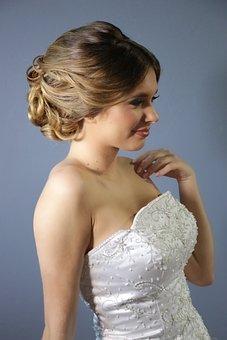 Wedding, Hair, S, Woman, Female, Bride, Hairstyle
