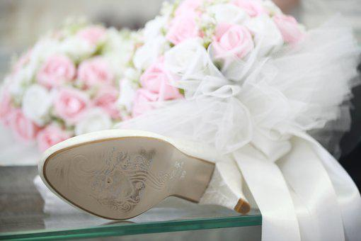 Wedding, Bridal, Shoes, Article, To Write, Luck