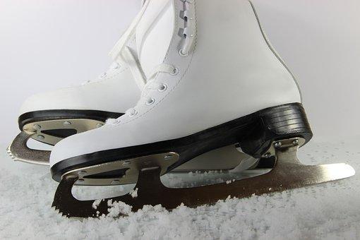 Skates, White, Snow, Sport, Cold, Ice, Skating, Fun