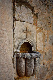 Wall, Old Wall, Old, Church, Holy Water, Worship