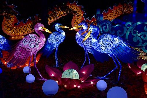 Chinese Lanterns, Night, Lantern, Light, Asian, Year
