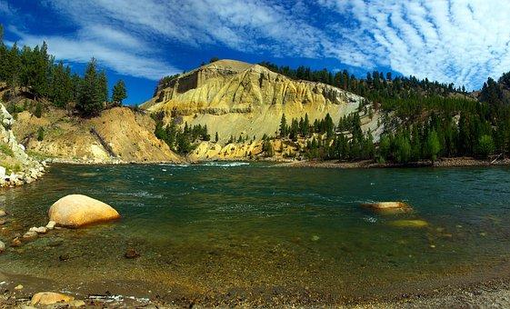 Yellowstone River View, Yellowstone, National, Park