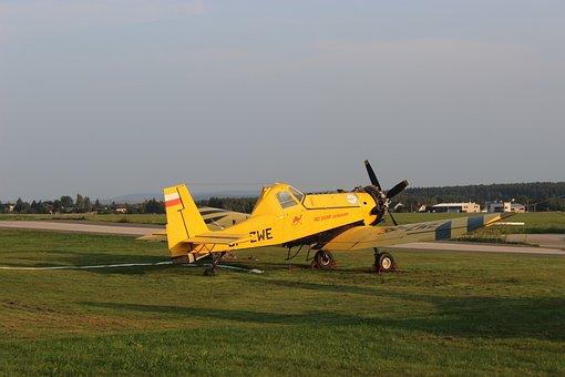 Airport, The Plane, Areoklub, Hang Gliding, Flying