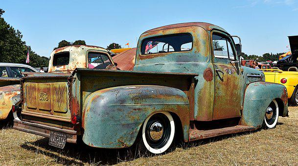 Rat Rod, Truck, Rusty, Vehicle, Old, Vintage, Antique