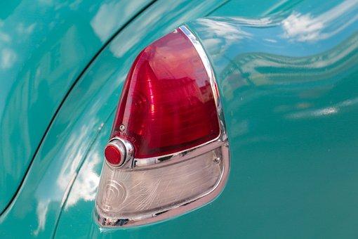 Back Light, Auto, Oldtimer, American, Automotive