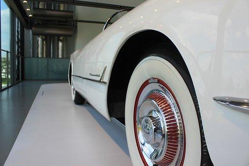 White Band Tyres, Oldtimer, Spokes, Automotive