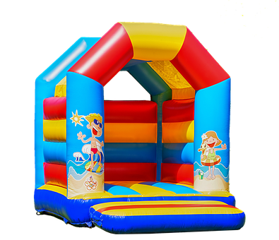 Bouncy Castle, Isolated, Children Toys, Air, Fun