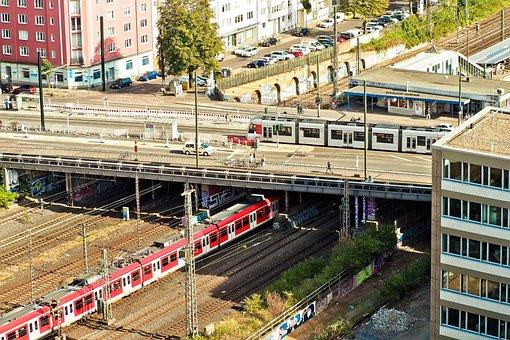Architecture, Bridge, Building, City, Cityscape, Train