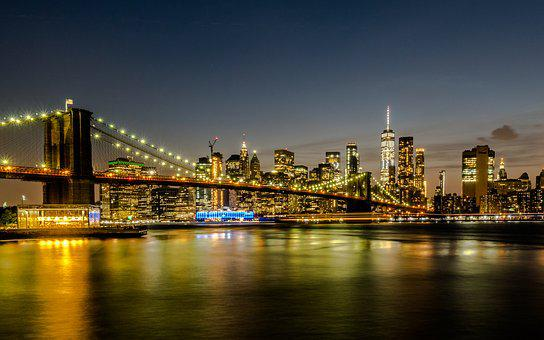 New York, Brooklyn, Bridge, Architecture, Manhattan