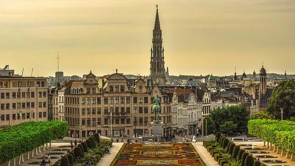 Belgium, Brussels, Arts Loi, Architecture, Buildings