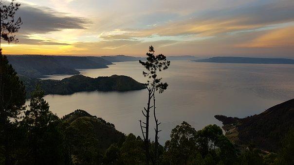 Morning, Calm, Nature, Landscape, Sunrise, Lake, Water