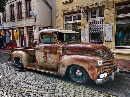Oldtimer, Chevrolet, Chevrolet 3100, Rusty, Usa