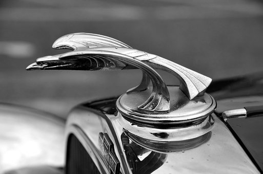 Hood Ornament, Car, Vintage, Restored, Retro, Chrome