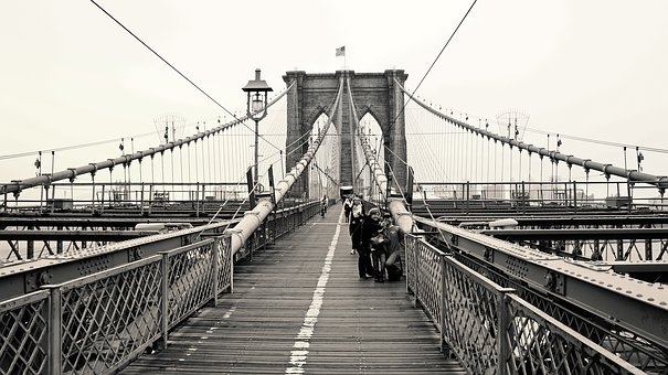 Newyork, Brooklyn Bridge, Bridge, City, Brooklyn