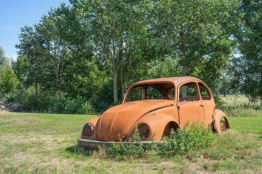 Vw, Beetle, Rusted, Volkswagen, Oldtimer, Classic, Rust