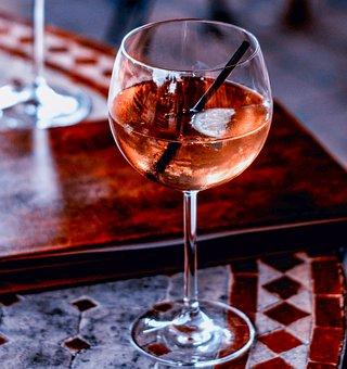 Cocktail, Wine Spritzer, Lemon, Ice, Glass, Drink