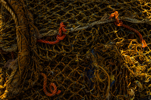 Fishing Net, Old, Sea, Fishing, Abandoned, Water, Ship