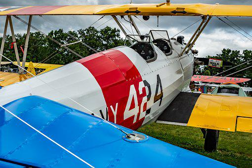 Biplane, Aviation, Vintage, Plane, Fly, Aircraft