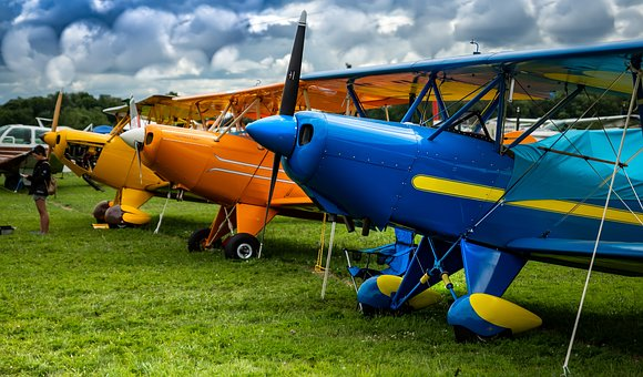 Aviation, Vintage, Fly, Aircraft, Propeller, Classic