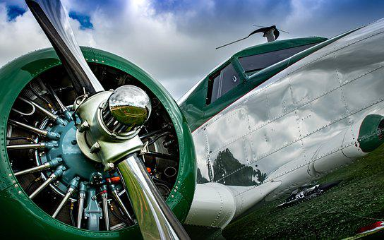 Aviation, Vintage, Plane, Fly, Aircraft, Propeller