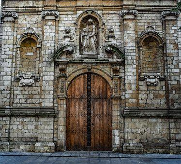 Church, Architecture, Building, Door, Gate, Wall