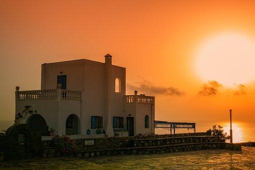 Sunset, Architecture, Building, Greece