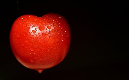 Tomatoes, Heart, Love, Beautiful, Drip, Red, Eat, Food