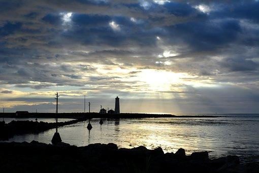 Reykjavik, Sunset, Tr, Iceland, Twilight, Heaven