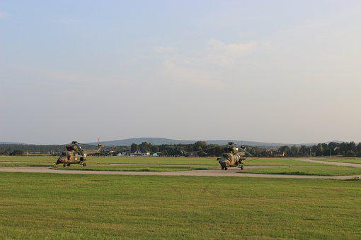 Airport, Helicopter, Flying, Aviation, Exhibition, Sky