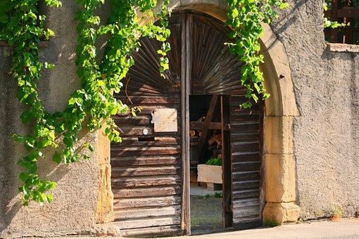 Alsace, Goal, Historic Center, Rundtor, Wooden Gate