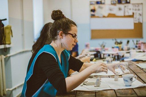 Gzhel, Workshop, Needlework, Hobby, Craft, Passion