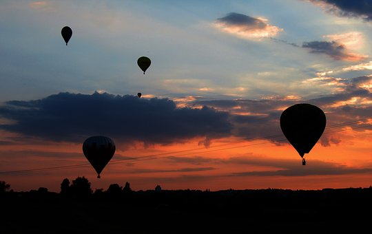 Hot Air Balloon, Sunset, Balloon, Sky, Clouds