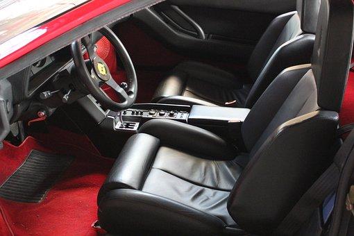 Car, Engines, Interior, Red, Auto, Redhead, Vehicle