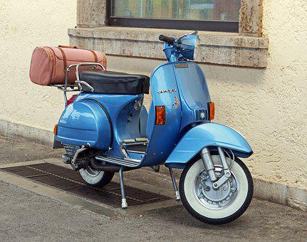 Motor Scooter, Vespa, Jewel, Historically, Restored