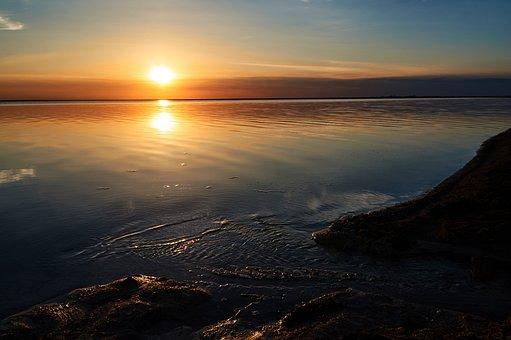 Sunset, Lake, Summer, Sky, Landscape, Clouds, Beautiful
