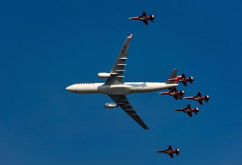 Aircraft, Patrol, Switzerland, Meeting, Air Show