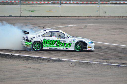 Drift, Auto, Motorsport, Competition, Asphalt, Event