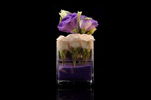 Flowers, Purple, Vase, Bloom, Nature, Blossom, Flora