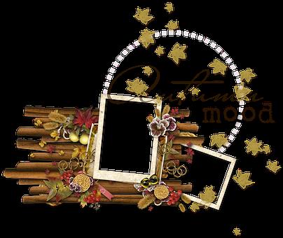 Autumn, Cluster, Blank, Ornament, Flower, Nostalgic