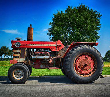 Oldtimer, Tractors, Tractor, Mf, Massey Ferguson, 1150